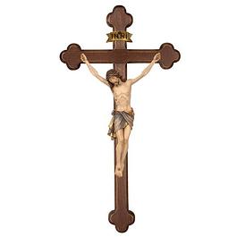 Crucifixo Cristo Siena cruz barroca - madeira
