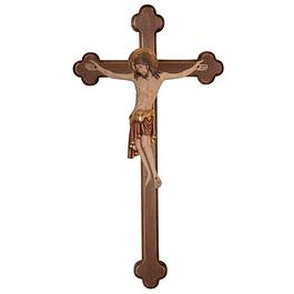 Crucifixo Cristo Cimabue cruz barroca - madeira