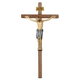 Crucifixo Cristo São Damião cruz reta - madeira