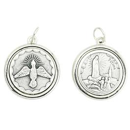 Medalha prateada duas faces