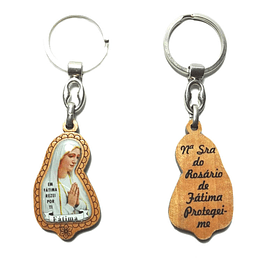 Catholic Keychain with Our Lady of Fatima