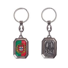 Chaveiro Portugal com Aparição de Nossa Senhora de Fátima