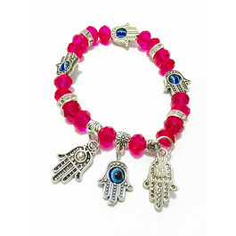 Crystal bracelet with hand of Fatima