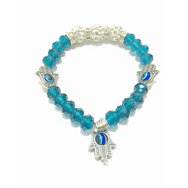 Pulseira de cristal azul claro
