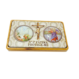 Double wooden magnet with Saint Christopher
