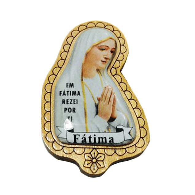 Íman de madeira com Nossa Senhora
