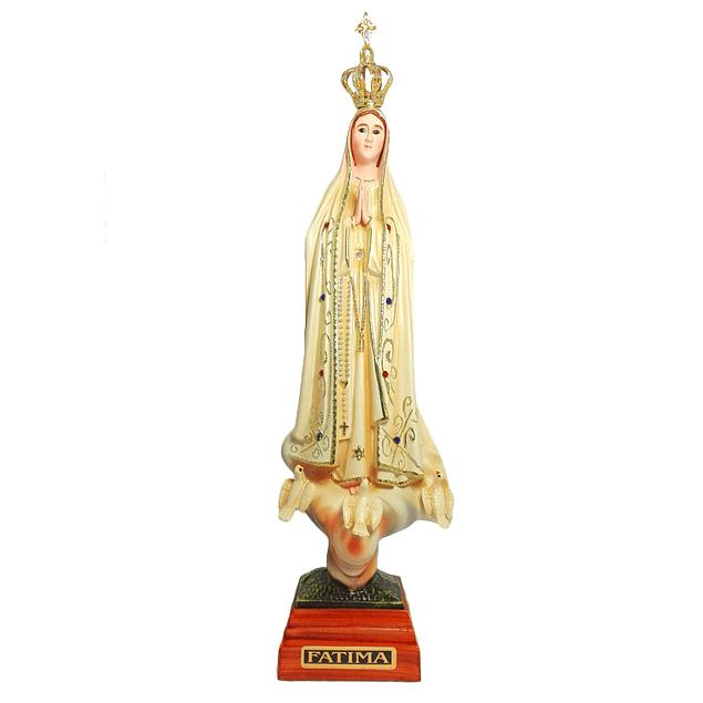 Imagem de Nossa Senhora de Fátima c/ olhos de vidro