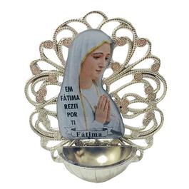Placa com Nossa Senhora com pia