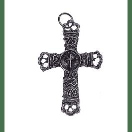 Medalha cruz rendilhada