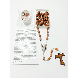 Terço Papa Francisco madeira
