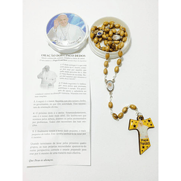 Olive wood rosary of Pope Francis