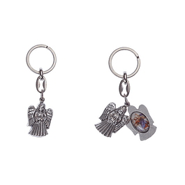 Angel Guardian Keychain and Saint Christopher
