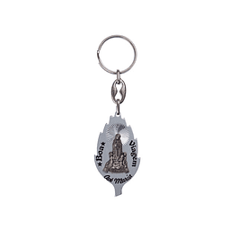 Keychain with candle flame with apparition