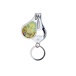 Fatima apparition keyring opens bottles