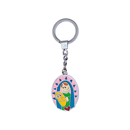 Colorful keychain with Jesus and Our Lady's boy