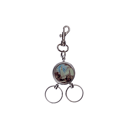 Double key ring with apparition