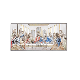 Sterling plaque of Last Supper