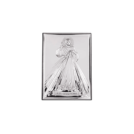 Sterling plaque of Divine Mercy