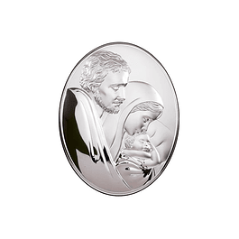 Sterling silver plaque of Sacred Family
