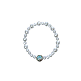 Pearl bracelet medal of the Apparition of Fatima