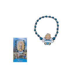 Pulseira de pérolas azuis  e Anjo