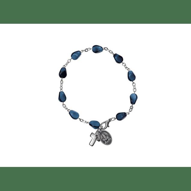 Pulseira com pedras azuis