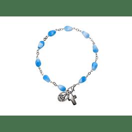 Clear Blue Stone Bracelet