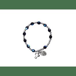 Bracelet with dark crystals