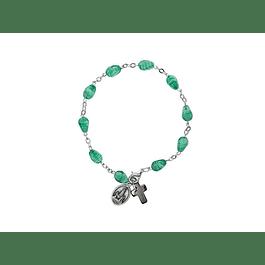 Pulseira cristais verde claro