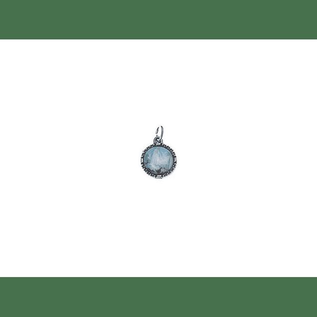 Medalha Redonda Pequena Niquelada Fátima Aparição