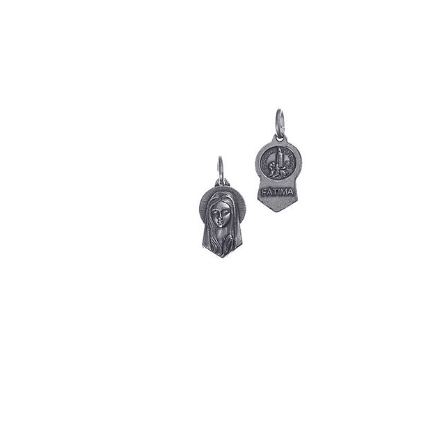 Medalha recortada rosto de virgem