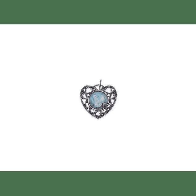 Medalha Coração Rendilha Aparição De Fátima