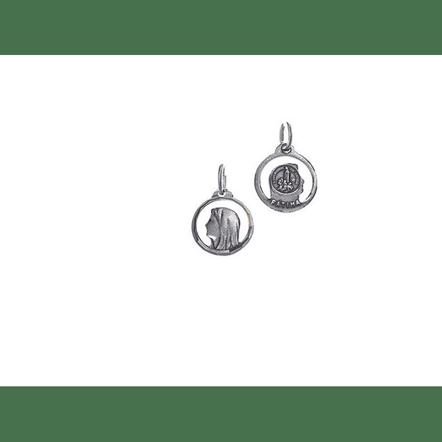 Medalha Rosto De Virgem Com Sarcadura