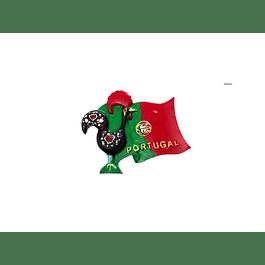 Íman bandeira de Portugal e galo