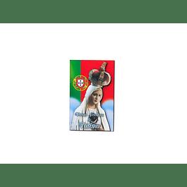 Íman de Madeira com N. Sra de Fátima/ Bandeira
