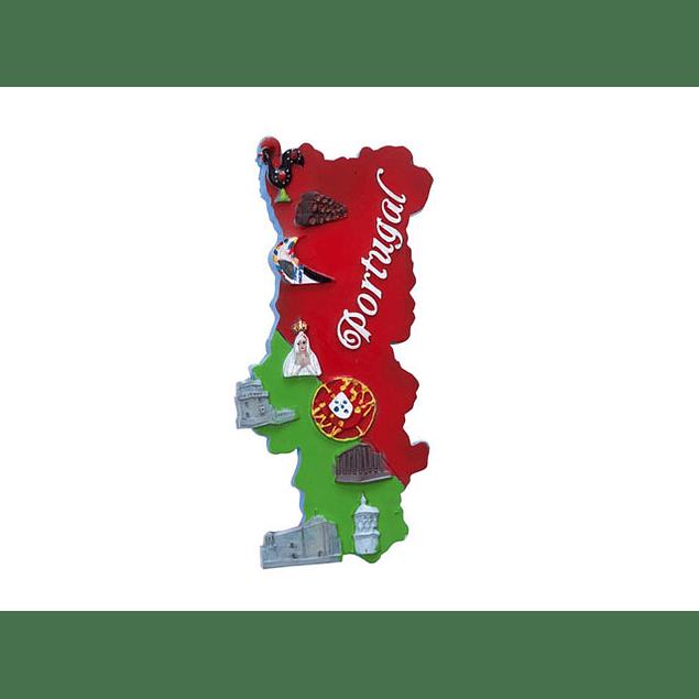 Íman mapa de Portugal e monumentos