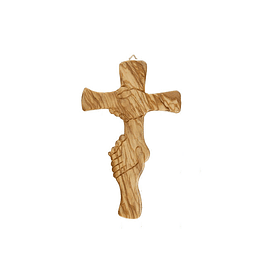 Olive wood cross of friendship