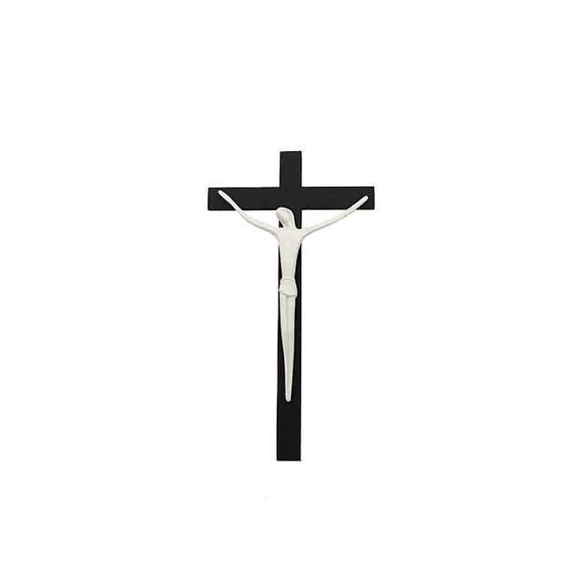 Cristo Porcelana Com Cruz de Pendurar