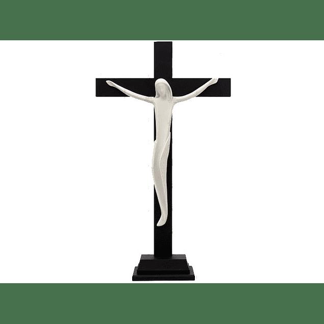 Cristo Porcelana Com Cruz e Base