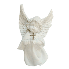 Statue of Guardian Angel with Cross