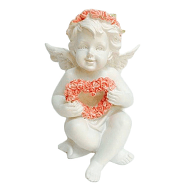 Guardian Angel statue with heart