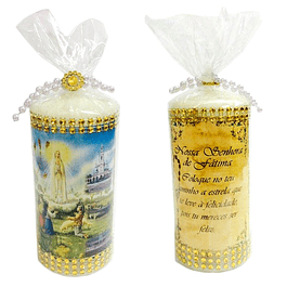 Vela decorativa Aparição de Fátima