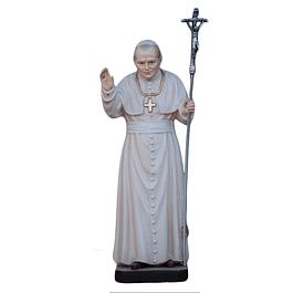 Imagem de Papa João Paulo II em madeira