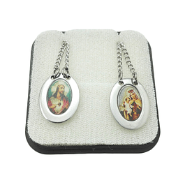 Colorful religious scapular