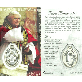 Prayer card of Pope Benedict XVI