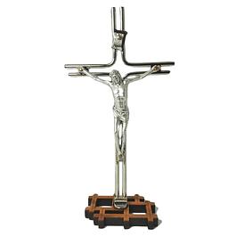 Crucifixo bilaminado de prata