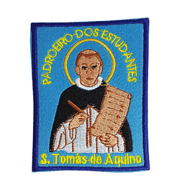 Embroidered patch of Saint Thomas Aquinas