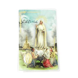 Prayer card of Fatima Apparition