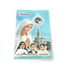Prayer card of Fatima