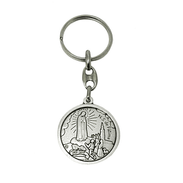 Catholic keychain with Apparition of Fatima